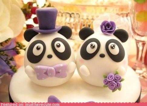 Epicute: Panda Wedding Cake Topper