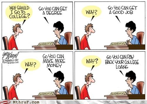 cartoons,college,comic,degree,employment,laons,newspaper