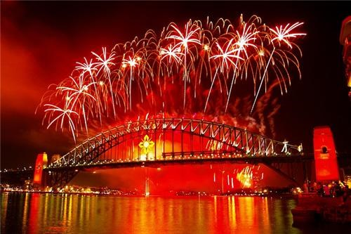 First Class Ticket - Destination of the Week - Sydney, Australia - Fireworks Over Bridge