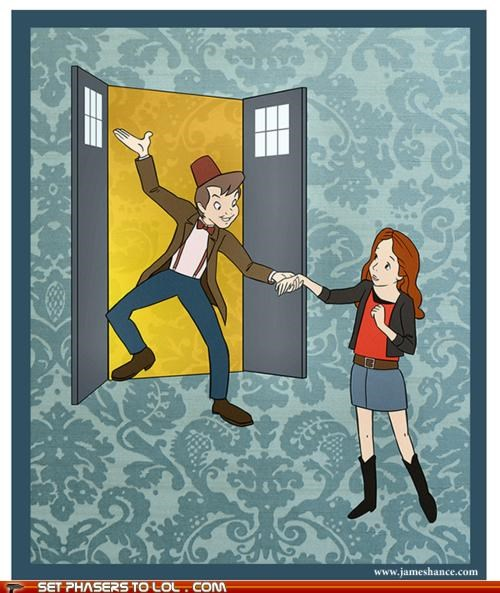 amy pond,art,cartoons,drawing,peter pan,the doctor,wendy