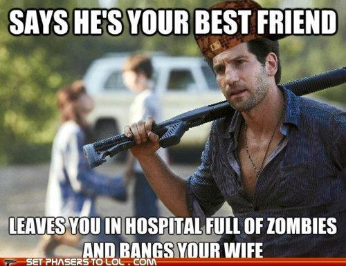 best friend,hospital,Jon Bernthal,shane walsh,The Walking Dead,wife,zombie
