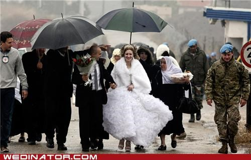 bride,conflict,funny wedding photos,Israel,marriage,syria