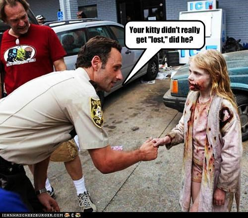 Andrew Lincoln,kitty,little girl,lost,Rick Grimes,The Walking Dead,zombie