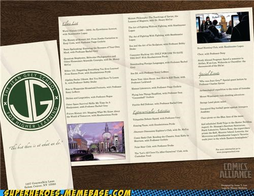 Jean Grey's School for Higher Learning: 2011 Syllabus
