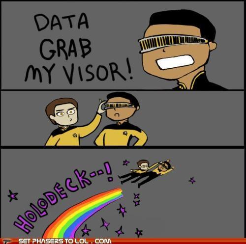 data,Geordi Laforge,holodeck,Star Trek,X Grab My Y