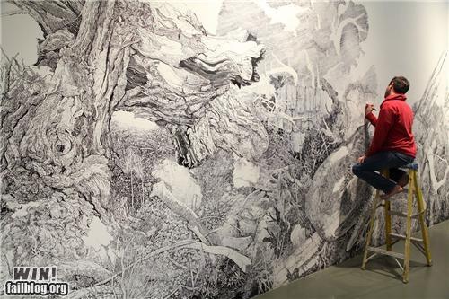 art,detail,exhibit,marker,mural,sharpie,wall