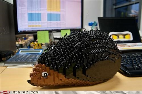 animals,distraction,hedgehog,lego,office supplies,office swag,toy