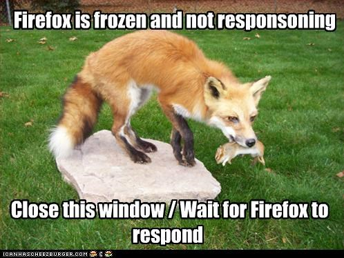 Firefox is frozen and not responsoning