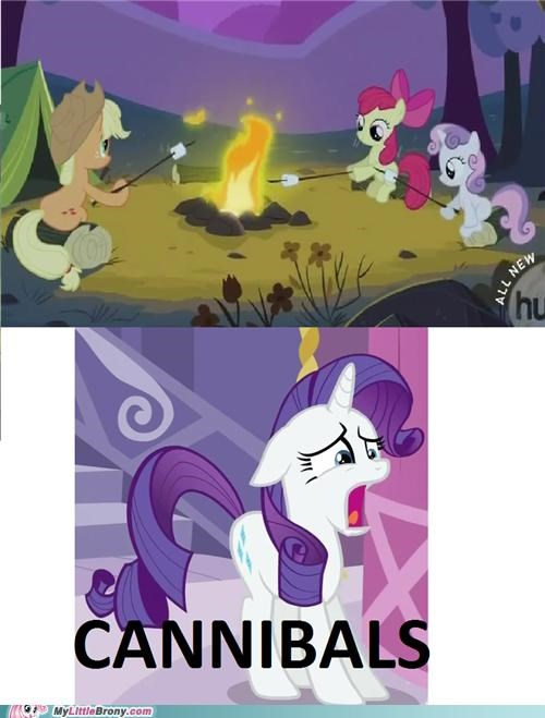 cannibals,marshmallow,meme,rarity,Sweetie Belle