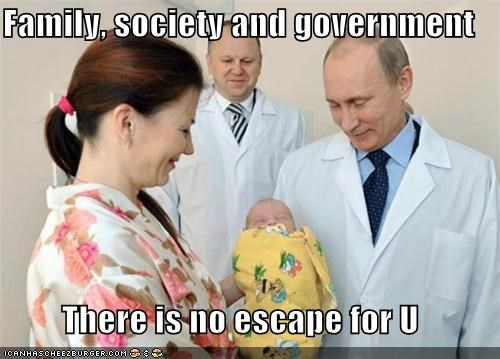 Family, society and government  There is no escape for U
