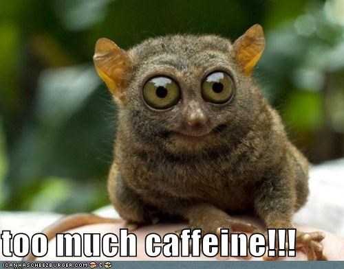 too much caffeine!!!