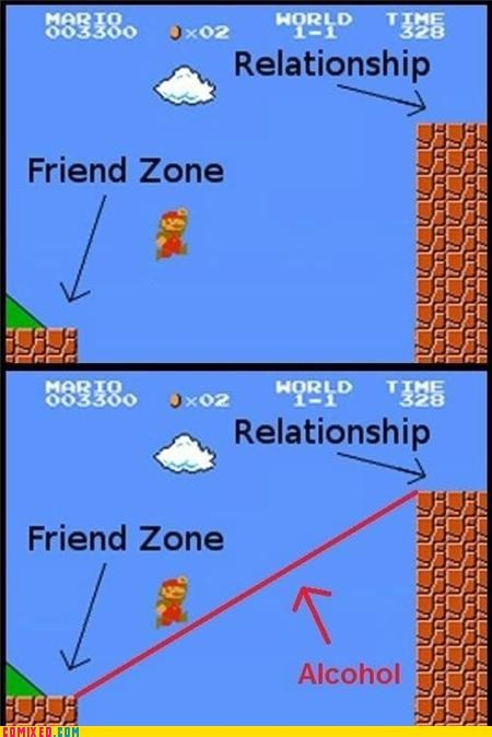 alcohol,friend zone,mario,relationship,true story,video games