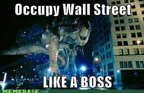 dinosaur,jurassic park,Like a Boss,movies,new york,Occupy Wall Street