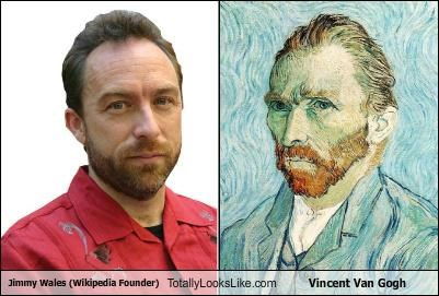 Jimmy Wales (Wikipedia Founder) Totally Looks Like Vincent Van Gogh