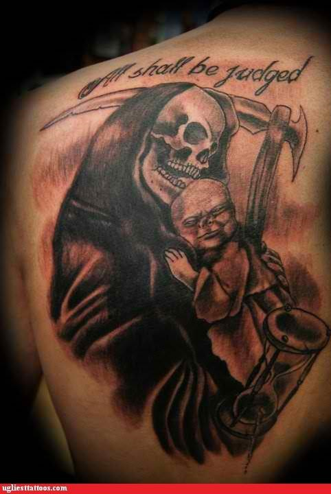 The Grim Reaper Should Consider a BabyBjörn, Because That's a Lot to Carry