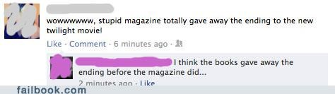 books,facepalm,magazine,Movie,Spoiler Alert,twilight