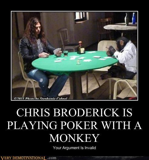 chris broderick,hilarious,monkey,poker