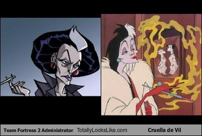 Team Fortress 2 Administrator Totally Looks Like Cruella de Vil