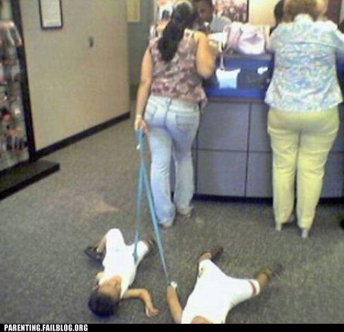 bank,leash,Parenting Fail,pet,Protest,tantrum,toddler