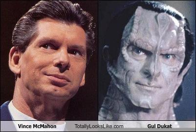 Vince McMahon Totally Looks Like Gul Dukat