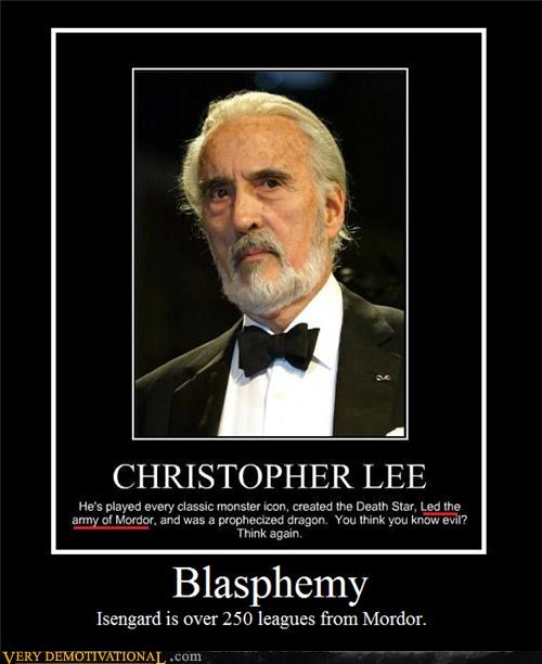 Christopher Lee,hilarious,isengard,mordor