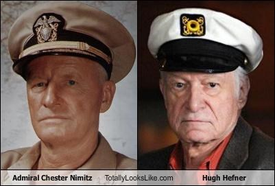 Admiral Chester Nimitz Totally Looks Like Hugh Hefner