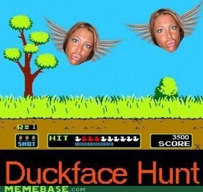 duck hunt,duckface,mario,Memes,nintendo,video games