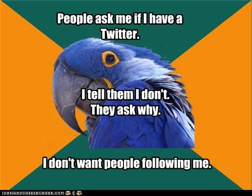 Why Twitter is a bad idea!