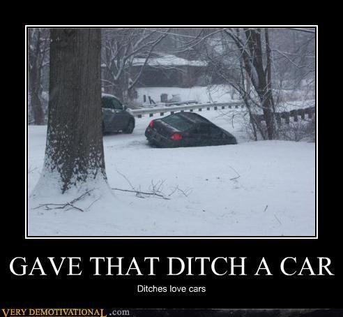 ditches,driving,Sad,snow,sucks