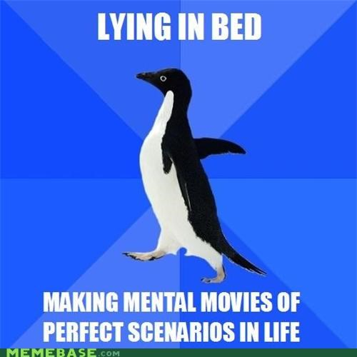 animemes,bed,life,perfect,socially awkward penguin,thoughts,times