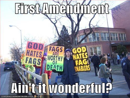 First Amendment  Ain't it wonderful?