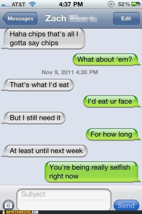 chips,eating,face,flirting