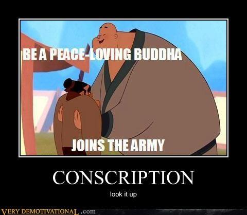 conscription,hilarious,mulan,peace loving