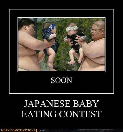 baby,eating,hilarious,Japan,sumo