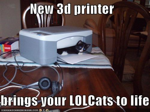 New 3d printer  brings your LOLCats to life