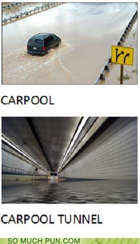 carpal tunnel,carpool,lolwut,no relation,random,similar sounding,tunnel