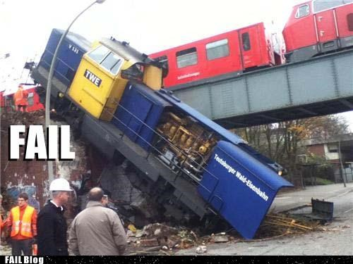 FAIL Train Comes Right On Schedule