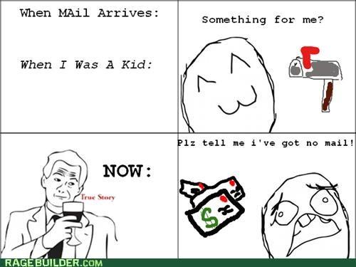 adulthood,bills,mail,Rage Comics