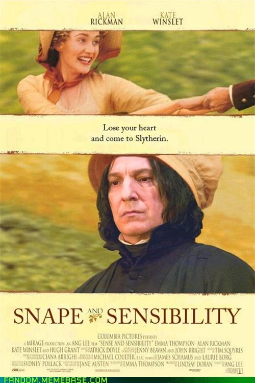 Harry Potter,It Came From the Interwebz,movie poster,sense and sensibility,snape