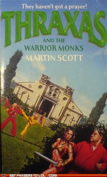 WTF Fantasy Book Covers: Thraxas and the Warrior Monks