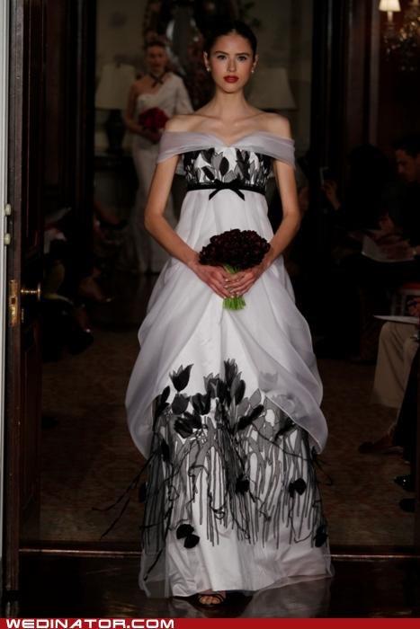 bridal couture,bridal fashion,caroline herrera,funny wedding photos,pretty or not,runway,wedding dress,wedding fashion
