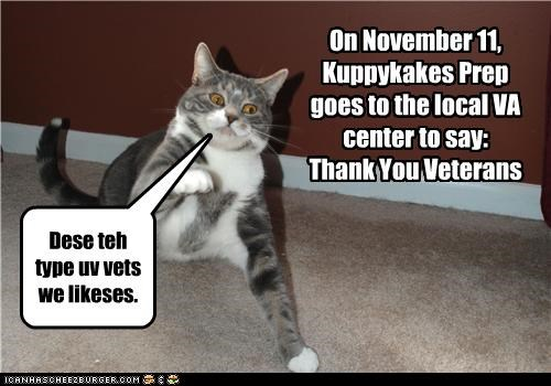 Kuppykakes Prep on Veterans Day.