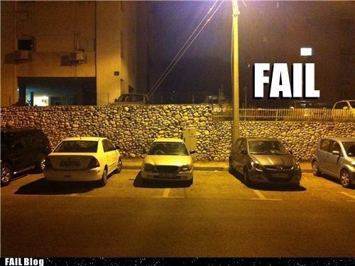 a for effort,cars,douchebag parkers,lines,parking lot