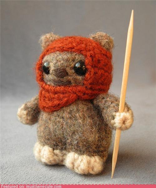 Amigurumi,best of the week,ewok,furry,hood,star wars,toothpick