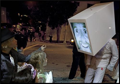 Giant TV Head of the Day