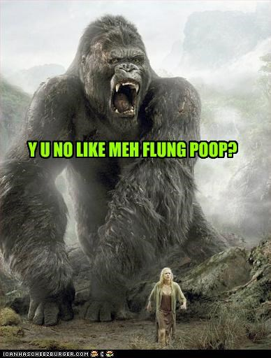apes,flung,giant,king kong,naomi watts,poop,remakes