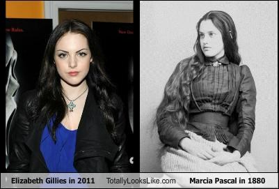 Elizabeth Gillies in 2011 Totally Looks Like Marcia Pascal in 1880