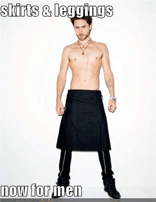 skirts & leggings  now for men