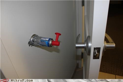 bullhorn,door,office pranking,shocked into a coma
