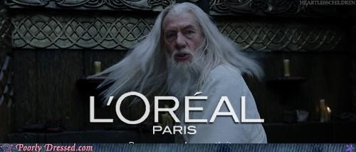 The White Wizard's Choice of Hair Product